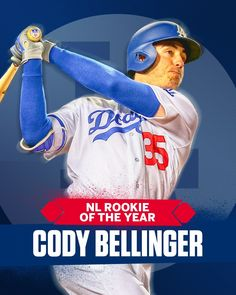 2017 Rookie of the Year⚾️ Baseball Boys, Dodgers Baseball, Baseball Cards, Cody Love, Dodgers Nation, Cody James, Cody Bellinger, Dodger Blue, Los Angeles Dodgers