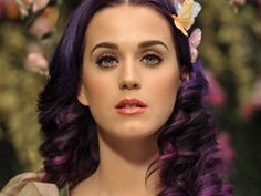 "I love the purple colour of Katy Perry's hair in the music video clip for ""Wide Awake""....."