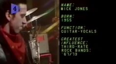 Mick at Alright Now for Tyne Tees TV 1979 Alright Now, Mick Jones, The Clash, Rock Bands, Names, Tv, Tvs, Television Set, Television