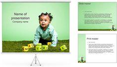 Bebê com Cubos Modelos de apresentações PowerPoint