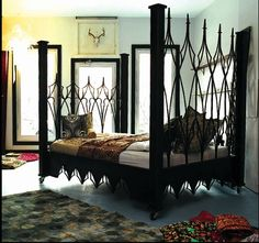 gothic style bedroom   Mine Metal Art Beds Home Portfolio Distinctive Home Ideas! Buy Baroque ...