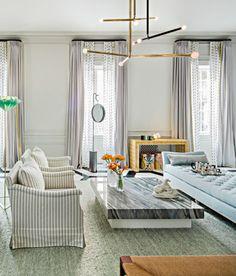 New Traditional Living Room by New York City Interior Designer, Paris Forino, via @sarahsarna.