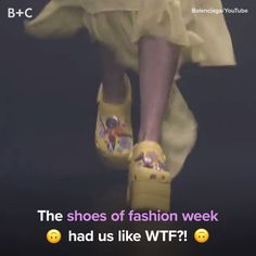 The WTF Shoes of Fashion Week – fashion fail Love Facts, Weird Facts, Fun Facts, Diy Videos, Videos Funny, Platform Crocs, Fashion Fail, Epic Fail Pictures, Satisfying Video