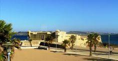 Forte de São Bruno de Caxias O Forte de São Bruno de Caxias localiza-se na confluência da ribeira de Barcarena com o rio Tejo, na altura da vila de Oeiras, freguesia de Caxias, concelho de Oeiras, distrito de Lisboa, em Portugal. Wikipédia