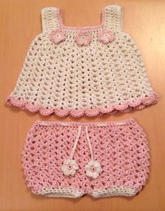 Beautiful cute handmade crochet baby girl dress by PinkLimeCrafts, £15.00