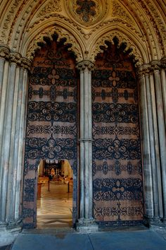 Ely Cathedral - West Door by Baz Richardson, via Flickr