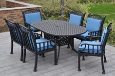 The Maddox Collection 6-Person All Welded Cast Aluminum Dining Set . $2531.00