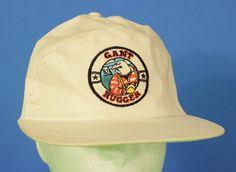 Gant Rugger 5 Panel Cap Hat Stretch White Orange Cotton #Gant #5Panel