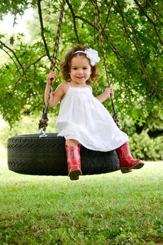 Whitney Walsh Photography - toddler pictures, tire swing