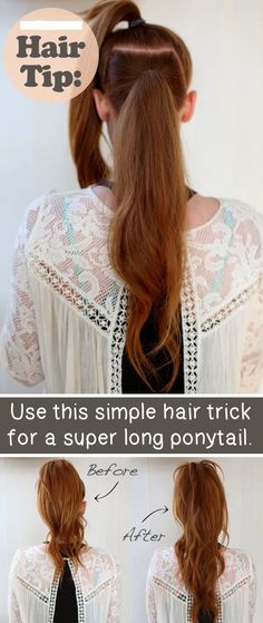 Use This Simple Hair Trick For A Super Long Pony Tail