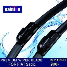 "RAINFUN U-hook Wipers Size:26""+14"" Fit For FIAT Sedici (2006 onwards)Wiper blade rubber replacement Limpador de para brisa"
