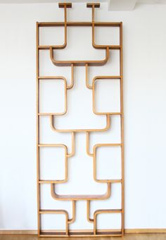 Decorative room divider wall unit from the sixties by Ludvík Volák for Ton Czechoslovakia