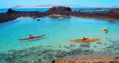 Sea kayaking and snorkelling excursions in Corralejo and Lobos Island, Fuerteventura, Canary Islands Valencia, Ibiza, Snorkelling, Canario, Canary Islands, Barcelona, Kayaking, Golf Courses, Sea