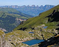 5 crystal blue mountain lakes and a fascinating view over the alps: 5 lake walk on Pizol