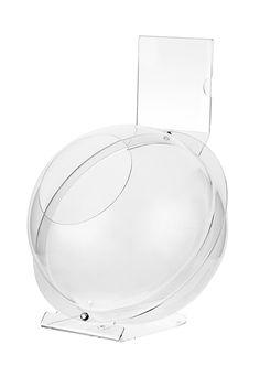 Produktüberblick Material:  Acryl Farbe:  Glasklar Durchmesser:  Ø 230mm Besonderheiten:  Mit Topschild (108mm x 108mm); inkl. Fuß Das Kugeldisplay Acryl mit Topschild bietet nicht nur genug Platz für Ihre Produkte,...