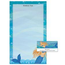 Mermaids Note Pad & Labels