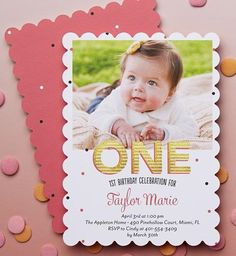 Make babe's first year a special one. Browse a collection of 1st birthday invitations. | Tiny Prints