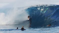 Frankie Harrer: She's 16 years old, and surfing with the big boys at Teahupoo, May 2014.