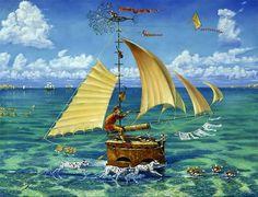 Ship of Fool / Michael Cheval / Surrealist Oil Painter / Sürrealist ressam