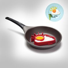 The sunnyside egg mold is a silicone egg shaper that makes your eggs resemble a cloud and a sun, and is sure to brighten up your otherwise depressing, suicidal thought filled day. The way it works is ...