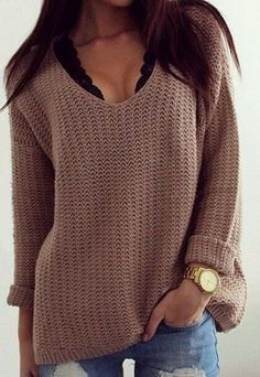 Only $29.99 & Free shipping!Start your casual day with this V neck sweater.It never let you down.Find it at Romoti.com