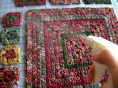 How To Spray Block Crocheted or Knitted Squares