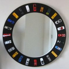 Memory mirror - would be a good way to use (and someday fondly remember) all the little cars in my house!