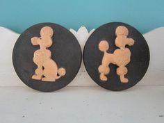 1950s mid century Snooty Poodles / chalkware/ by VintageGirLNY, $30.00