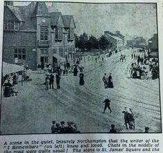 An early photo of St James Road, Northampton