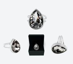 Jewelry from Ioaku  Drop Ring Silver/Smoke 300kr