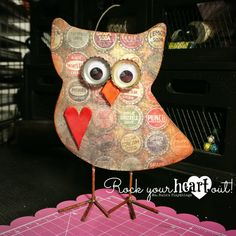 Wooden owl by Ms. Ruin's Playthings