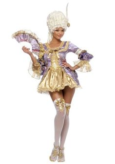 Marie Antoinette Costume. I love her but dang, it's kinda short!