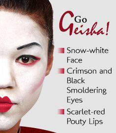 Geisha makeup ideas