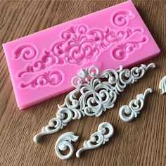 Universe of goods - Buy Hot Sale DIY Sugar craft Cake Vintage Relief Border Silicone Mold Fondant Mold Cake decorating Tools Gum paste Mold for only USD.Wholesale Product Snapshot Product name is Flower Lace Border Silicone Mold Cutting Dies Craft Re Plaster Crafts, Plaster Art, Plaster Molds, Fondant Molds, Cake Mold, Fondant Lace, Cake Borders, Sugar Craft, Cake Decorating Tools