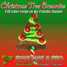 Christmas Tree Brownies Recipe ►CLICK PICTURE to watch recipe Brownie Recipes, Baking Recipes, Holiday Recipes, Great Recipes, Holiday Baking, Christmas Baking, Christmas Ornaments, Christmas Tree Brownies