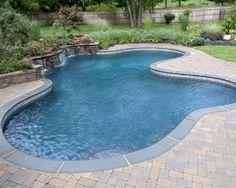 Blue Stone coping Inground Pool Designs, Pool Coping, Gunite Pool, Pool Service, Blue Pool, Water Walls, Pool Builders, Custom Pools, Swimming Pools Backyard