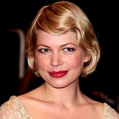 Michelle Williams finger wave bob hairstyle formal for short hair
