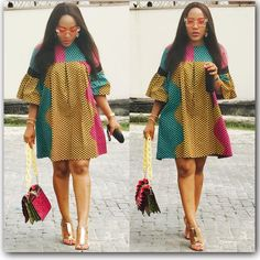 Howdy ladies, these are latest ankara dress styles you haven't rock. This is an opportunity for you to rock the kind of ankara styles Latest African Fashion Dresses, African Dresses For Women, African Print Dresses, African Print Fashion, African Attire, African Wear, African Women, Ankara Fashion, Ankara Short Gown Styles