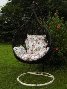 Steel Rattan Hanging Chair,Water Drop Shape Size:135*80*