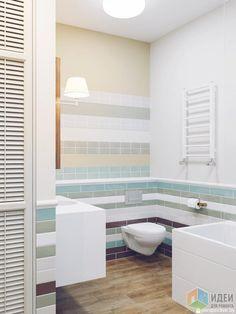 Интерьер ванной комнаты, светлая ванная