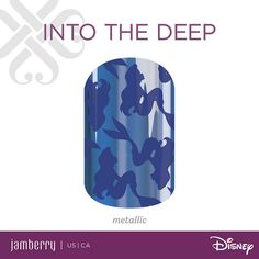 Disney Princess Ariel's silhouette makes for a beautiful design that is all about being subtly chic! Get 'Into The Deep' for an understated and alluring mani.