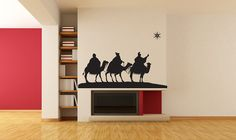 Three 3 Wise Men Following the Star - Decal, Vinyl, Sticker, Holiday, Christmas, Home, Wall Decor via Etsy