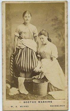 CdV-Photo-Of-Two-Women-Washing-Clothes-Munro-Of-Edinburgh-Scotland-c1860s