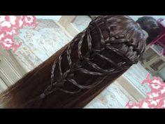 peinados sencillos faciles para cabello largo bonitos y rapidos con trenzas para niña mariposa#20 - YouTube