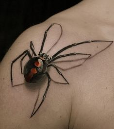 Tattoos with 5 Exclusive Tattoo Ideas and Designs Black Widow Spider Tattoo, 3d Spider Tattoo, Tattoo Hurt, Tattoo Pain, Dragonfly Tatoos, Face Paint Set, Real Spiders, Birthday Tattoo, Skull Art
