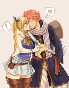 Fairy Tail - Natsu Dragneel and Lucy.
