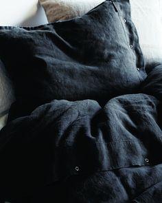 Lovely Linen Påslakan Dark Grey - Kardelen - Dennys Home