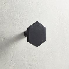 Hex Matte Black Knob