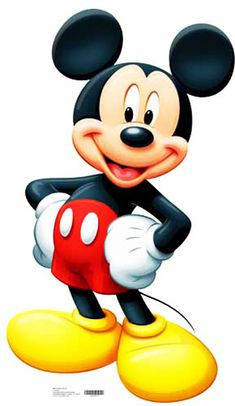 Mickey Mouse --- is a cartoon character created in 1928 by Walt Disney and Ub Iwerks at The Walt Disney Studio.[3] Mickey is an anthropomorphic black mouse and typically wears red shorts, large yellow shoes, and white gloves. He is one of the most recognizable cartoon characters in the world and is the mascot of The Walt Disney Company, the world's largest media conglomerate in terms of annual revenue.