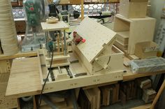Woodworking, Multi Router, Horizontal router and drill